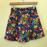 80s Floral Print High Waisted Cotton Shorts. Sold in excellent condition at Empress Vintage in Berkeley, CA.