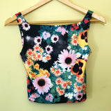 Floral Photo Print Cage Back 90s Tank Top