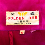 Silk Magenta Chinese Dragon Robe