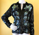 Iridescent Sequin Cardigan Sweater