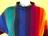 SOLD Rainbow Striped Sweater