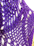 SOLD Deep Purple Net Mermaid Dress