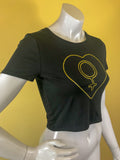 Empress Vintage Black and Gold Crop Top T-Shirt