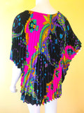 Psychedelic Crystal Pleated 60's/70's Tunic