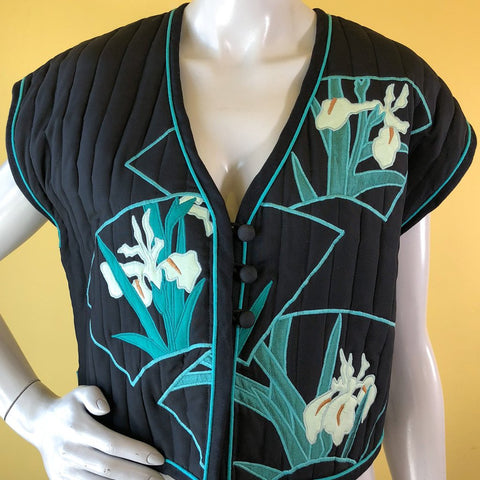 White Duck Workshop quilted vest available at Empress Vintage in Berkeley, CA, by request.