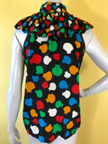 Yves Saint Laurent Sea Shell Print Multi-Color Blouse