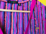 Coogi Pink Colorful Hooded Mini Dress