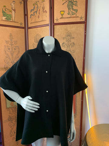 Karl Lagerfeld Black Knit Cape