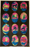 Neon Zodiac Astrology Poster from 1973! Only available at Empress Vintage in Berkeley, CA.