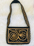 SOLD* Elegant 1960s/70s Gold & Black Velvet Handbag