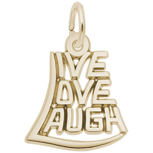 LIVE, LOVE, LAUGH(14KT) - Frank's & Sons Jewelry