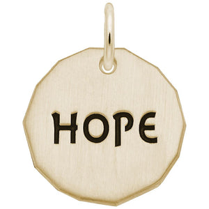 HOPE CHARM TAG(14KT) - Frank's & Sons Jewelry