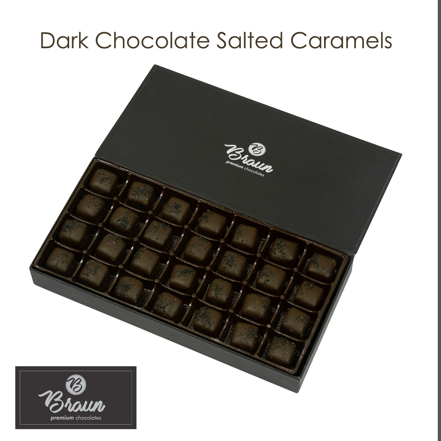 Dark Chocolate Salted Caramels - Keepsake Box
