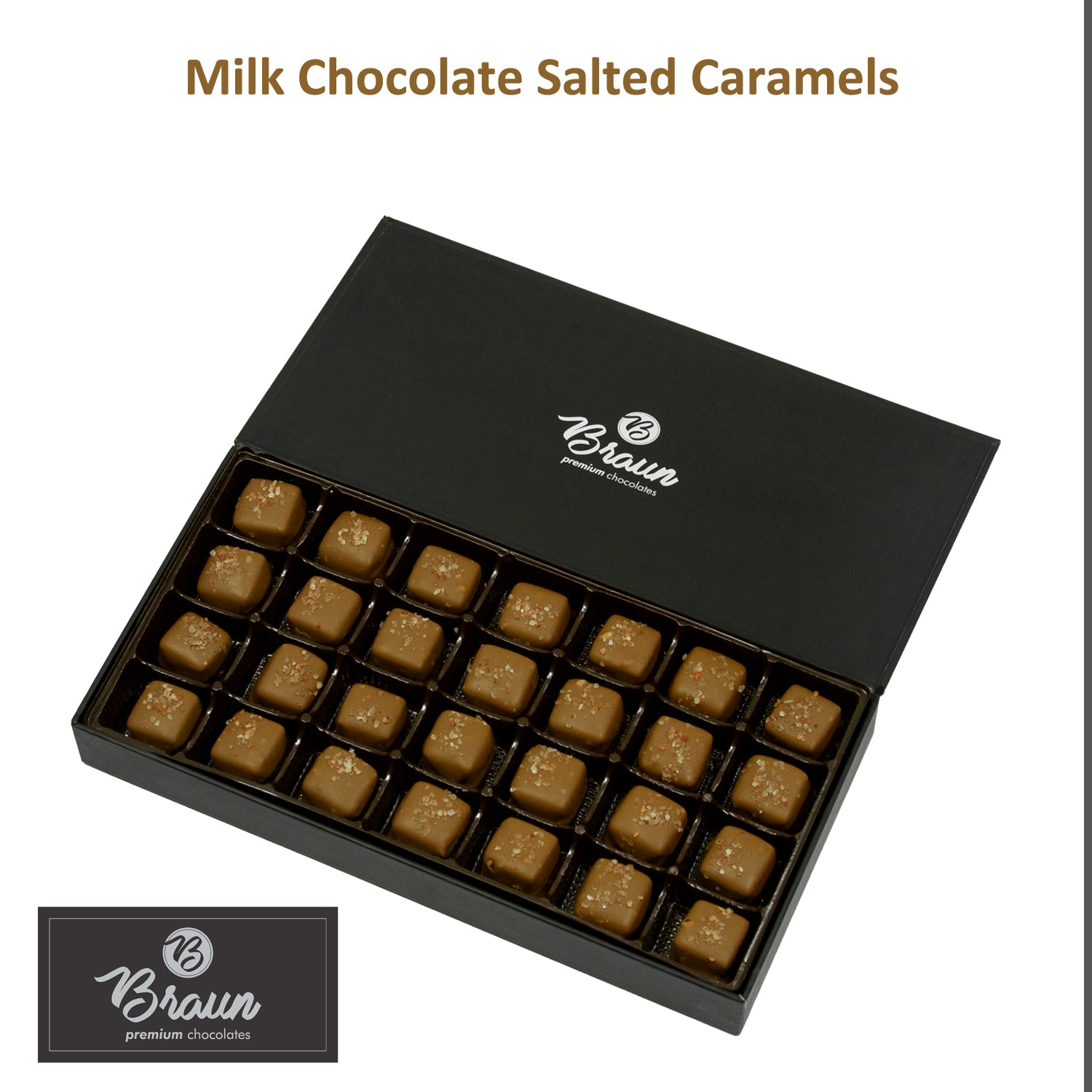 Milk Chocolate Salted Caramels - Keepsake Box