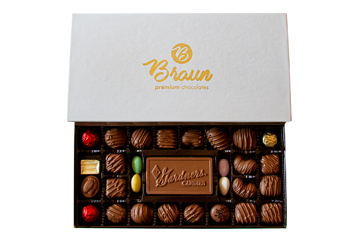 Braun Custom Logo Chocolates