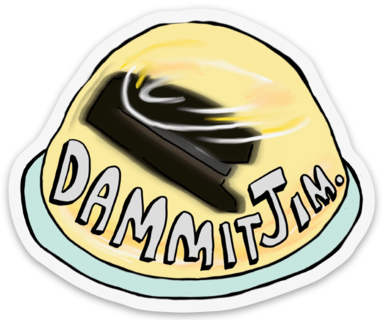 Dammit Jim - Office Fan Art Sticker