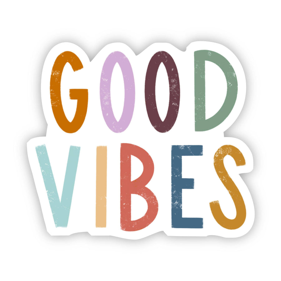 Good Vibes Multicolor Lettering Sticker