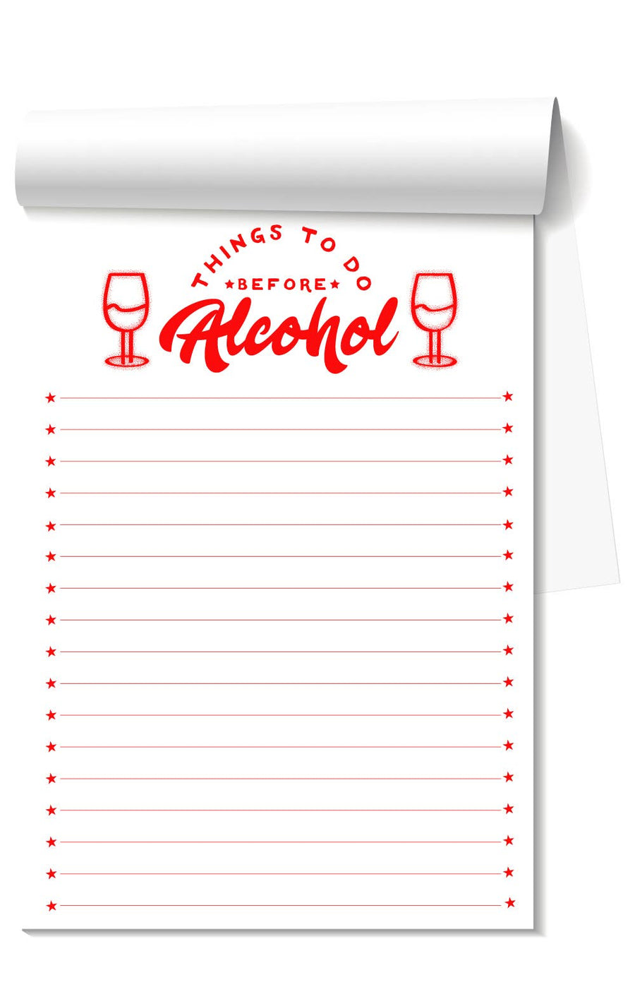 Things to Do Before Alcohol Notepad