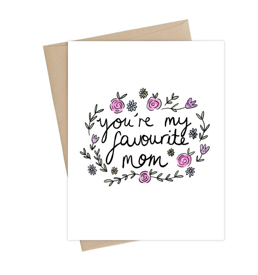 Favourite Mom Card // Mothers day greeting card