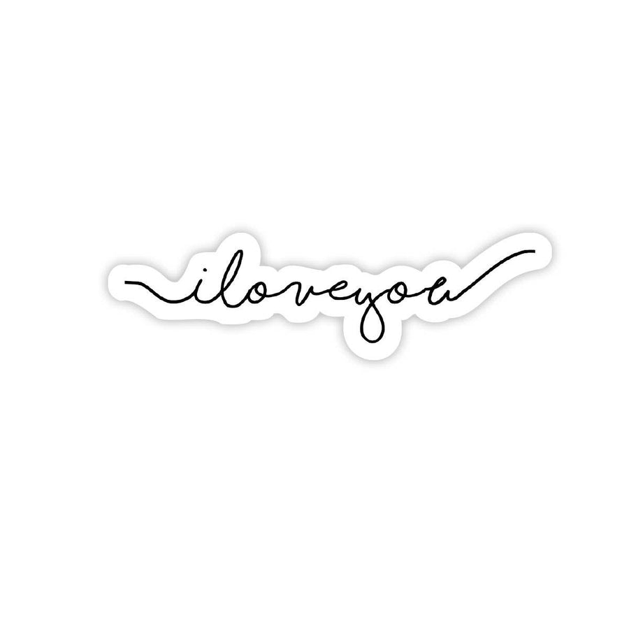 I Love You Cursive Script - Valentine's Day Sticker