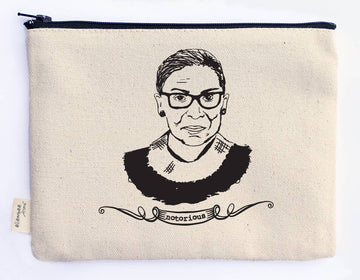 Notorious RBG (Ruth Bader Ginsburg)  Canvas Zipper Pouches