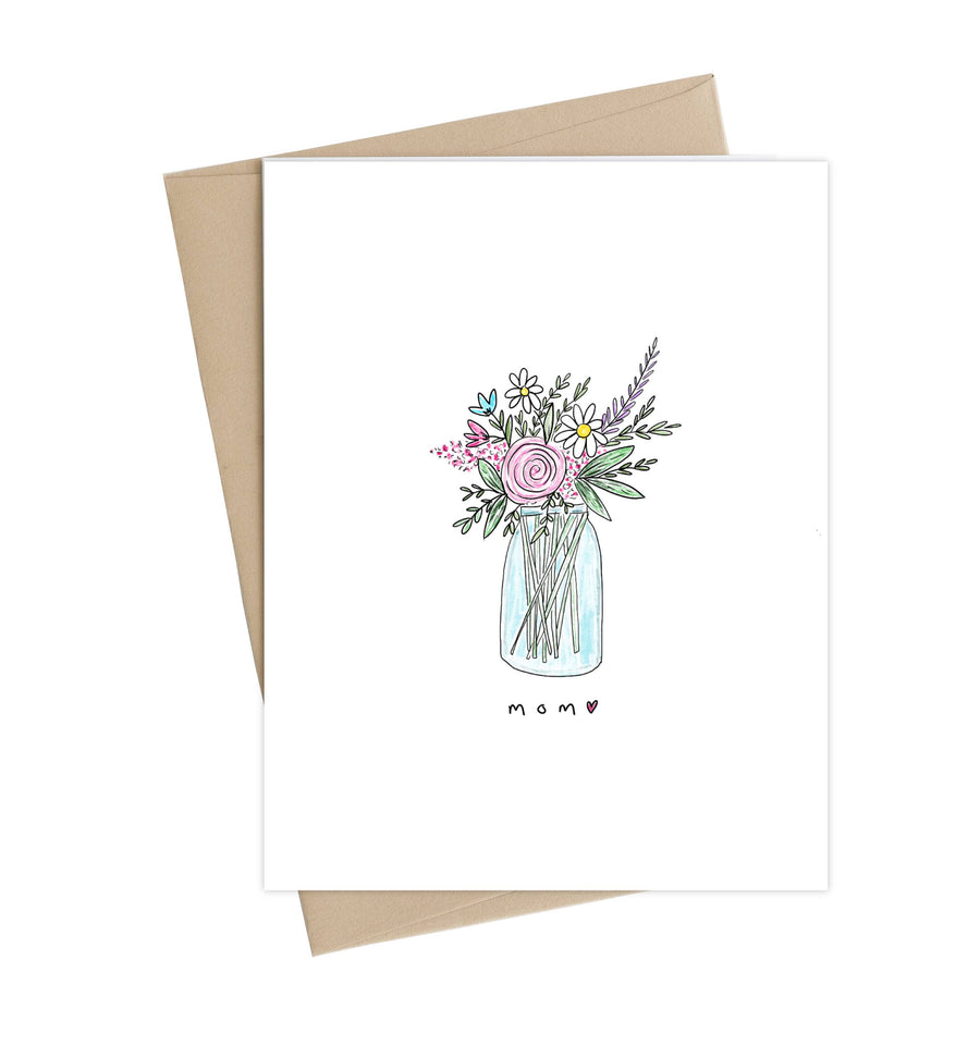 Mom Vase // Mothers day greeting card
