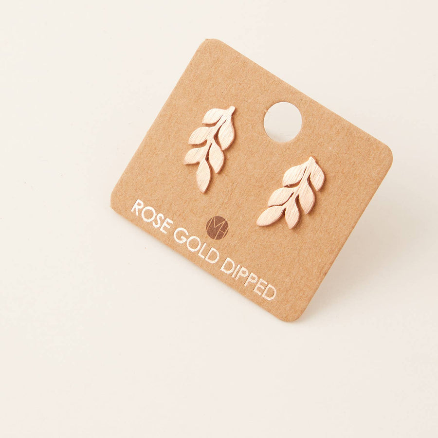 Leafy Branch Stud Earrings