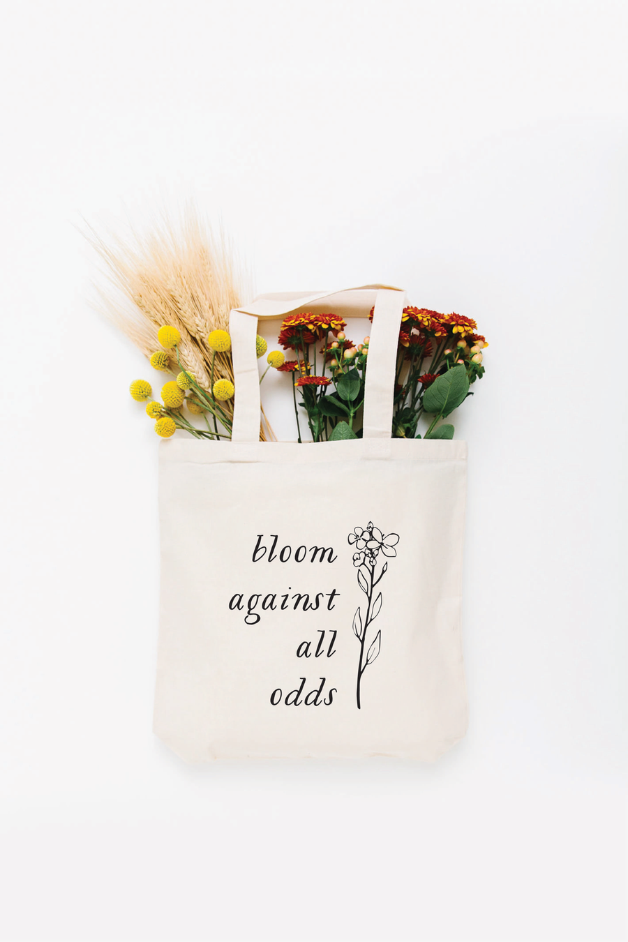 Bloom Against All Odds Tote Bag - Small