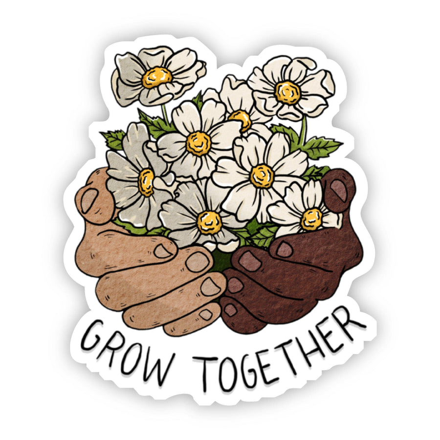 Grow Together Floral Hands Sticker