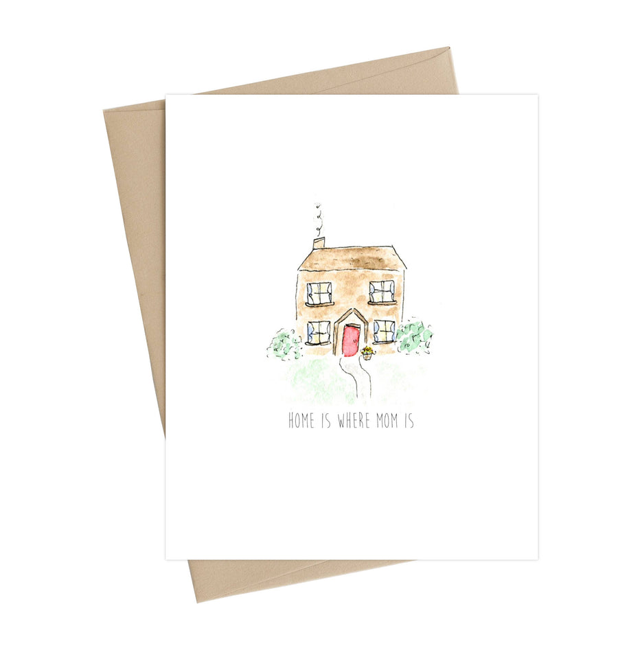 Home Is Where Mom Is Card, mothers day greeting card