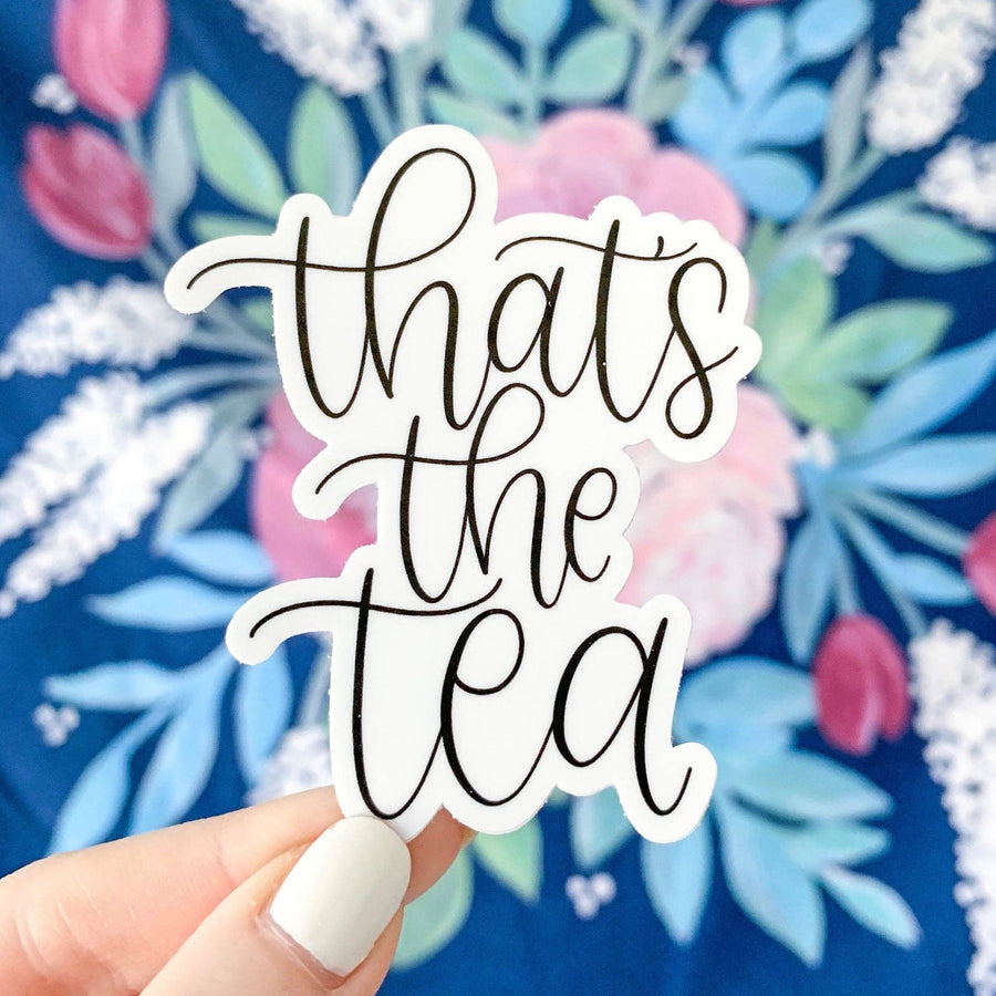 That's the Tea Sticker, 3x1.5in.