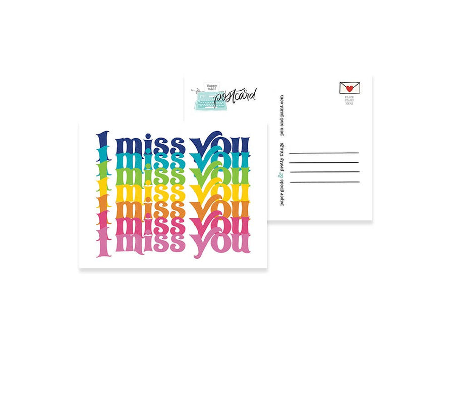 I miss you - postcard