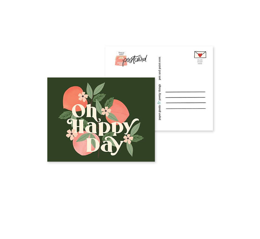 Oh Happy Day Peaches Postcard