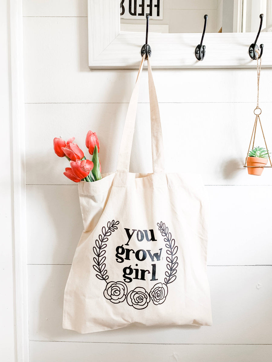 You Grow, Girl - Market Tote Bag
