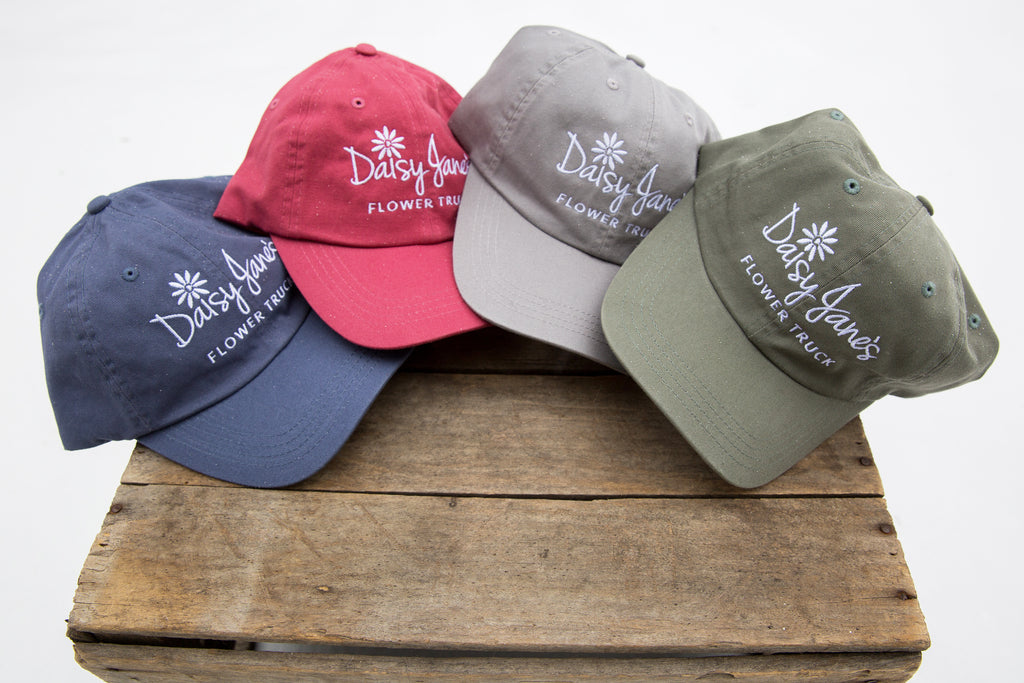 Daisy Jane's Flower Truck Embroidered Hats