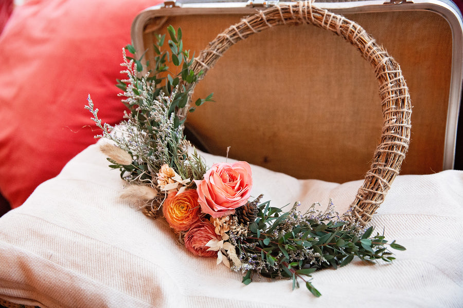 Dried Floral Wreath Kit & Video Tutorial