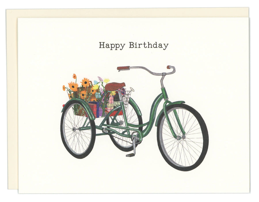 Happy Birthday Tricycle  Greeting Card