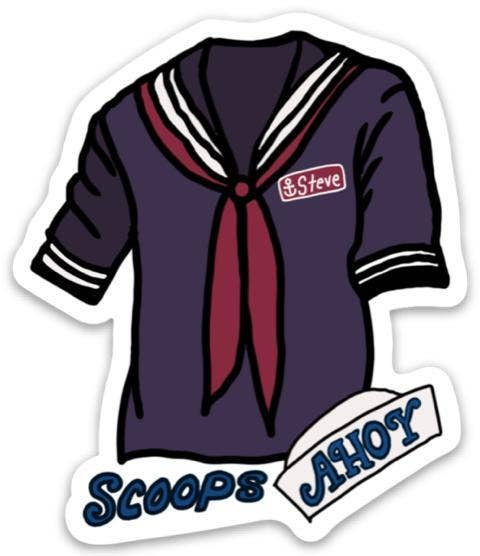 Scoops Ahoy Sticker - Stranger Things Edition
