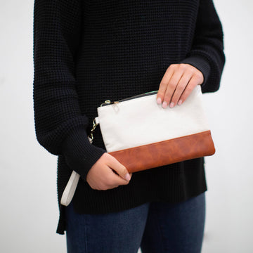 Wristlet - Classic Cream Canvas