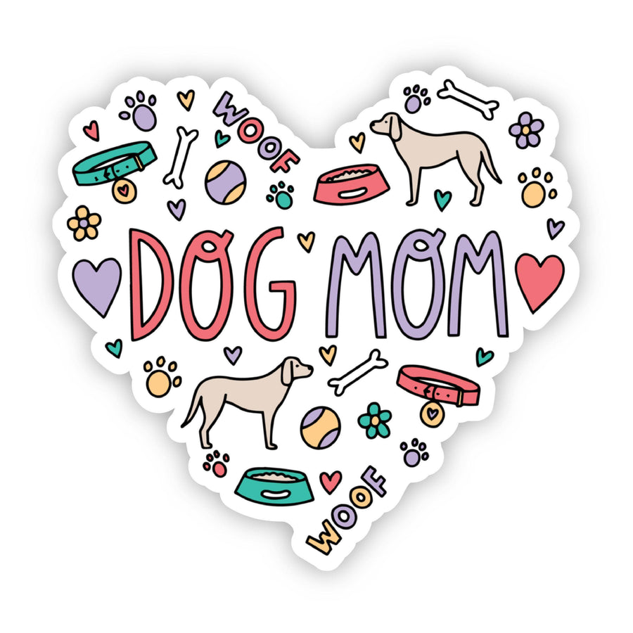 Dog Mom Heart Sticker