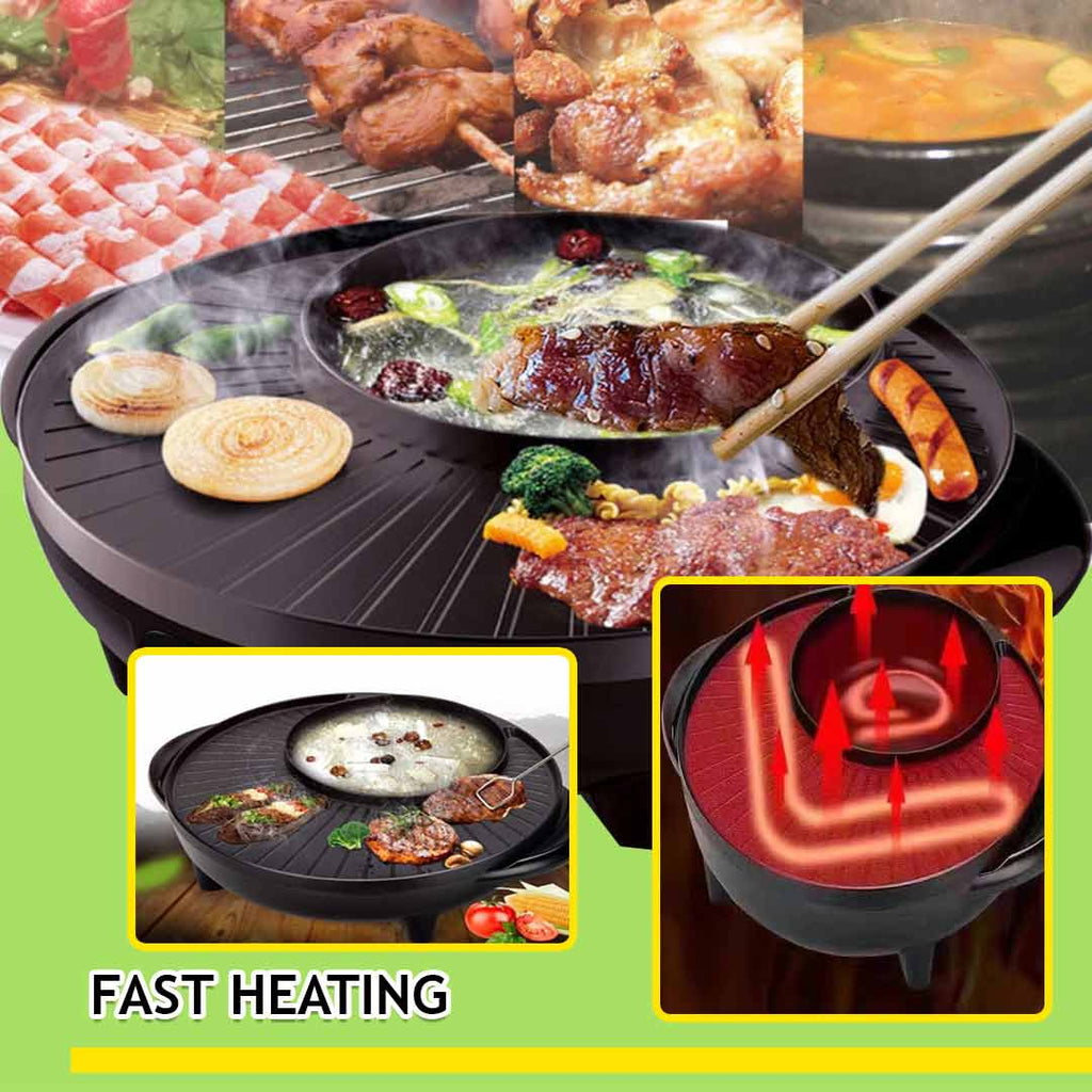 korean 2 in 1 hot pot and grill