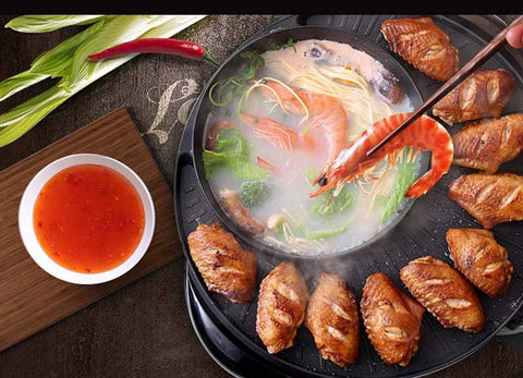 Korean Style 2-in-1 Electric Hot Pot and Grill