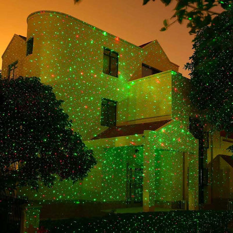 Moving Garden Laser Light