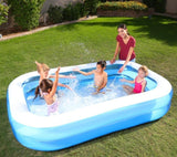 "Inflatable Home Pool (2.62m x 1.75m x 51cm / 8.6 x 69"" x 20"") - 54006"