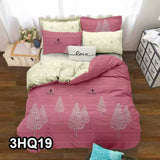 3 in 1 Korean Style Queen Size Cotton Bedsheet Set