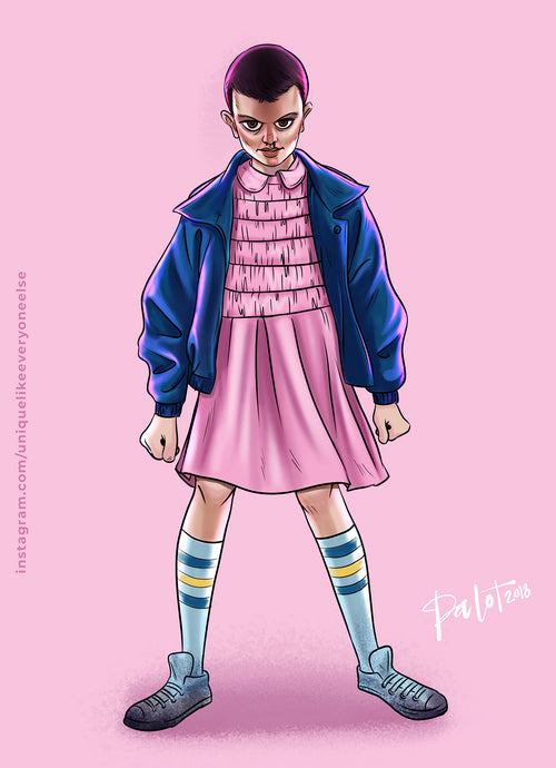 Eleven of Stranger Things A3 poster