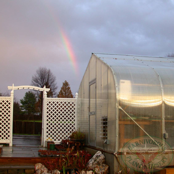 rainbow over Carnivorous Plant Nursery