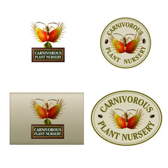 Carnivorous Plant Nursery concept drawings for new logo.