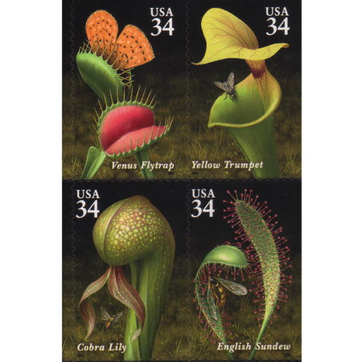 Carnivorous Plant Stamps - United States