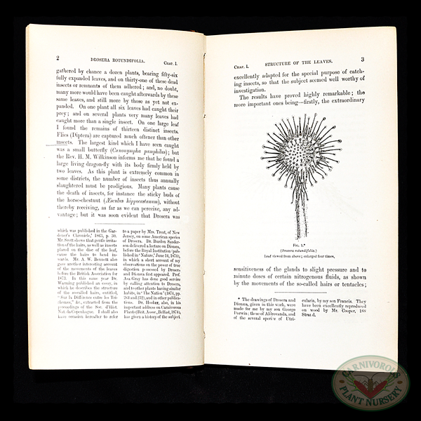 Insectivorous Plants by Charles Darwin, 1889 page